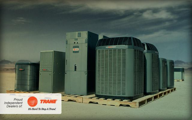 Trane line of products on palettes