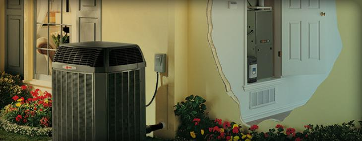 Trane furnace, heat pump and air cleaner system